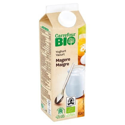 Carrefour Bio Yoghurt Magere 1 L