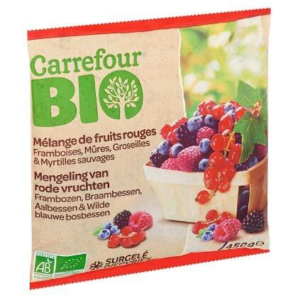Carrefour Bio Mélange de Fruits Rouges 450 g