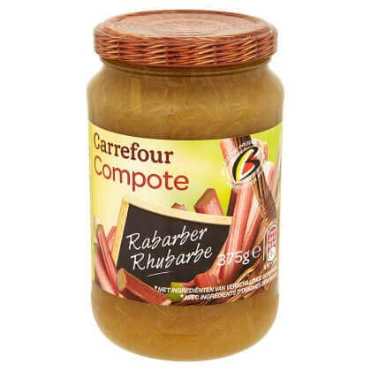 Carrefour Compote Rhubarbe 375 g