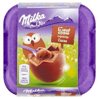 Milka l'Oeuf Coque Cacao 4 x 34 g