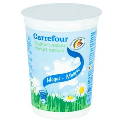 Carrefour Yoghurt Natuur Mager 500 g