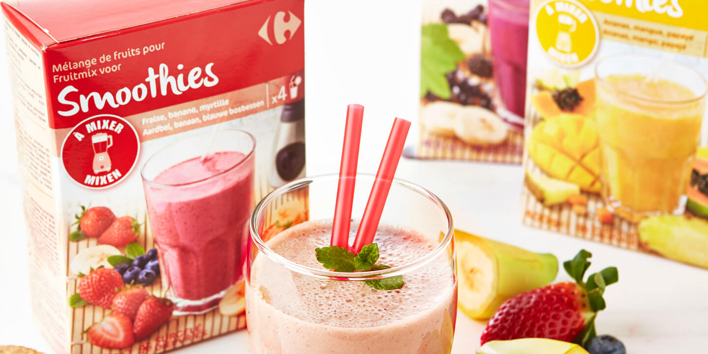 Mélanges de fruits pour smoothies