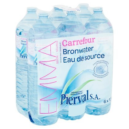 Carrefour Pierval Bronwater 6 x 1,5 L