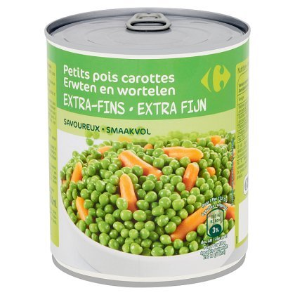 Carrefour Petits Pois Carottes Extra-Fins 800 g
