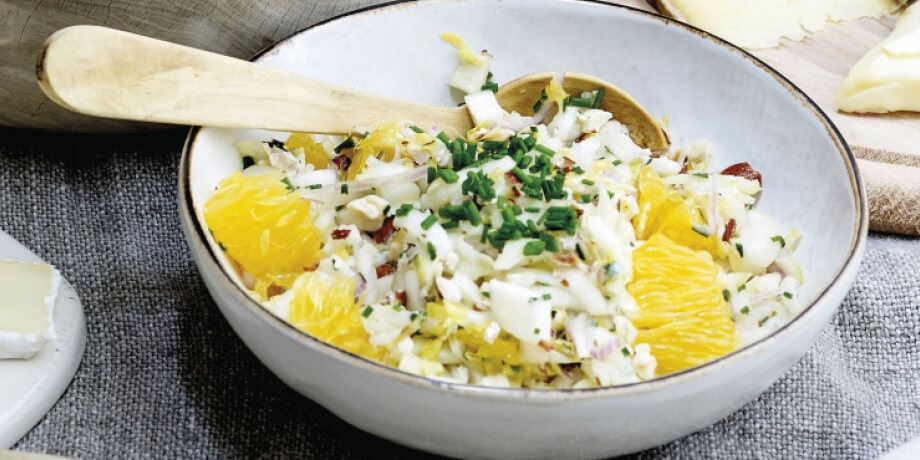 Salsa de chicons à l'orange et au brie