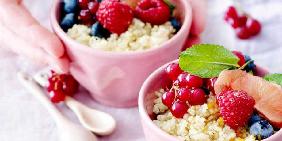 Quinoa aux fruits rouges