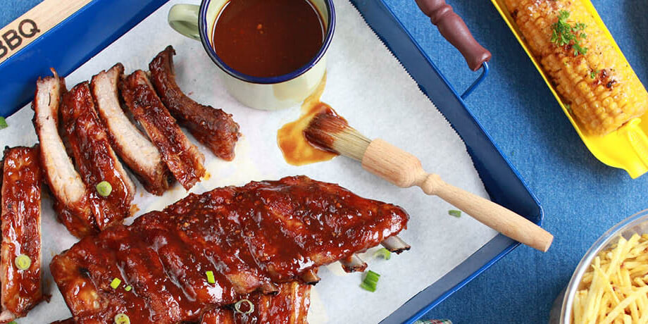 Spare ribs met barbecuesaus