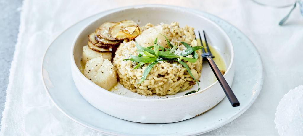 Risotto de Saint-Jacques aux topinambours
