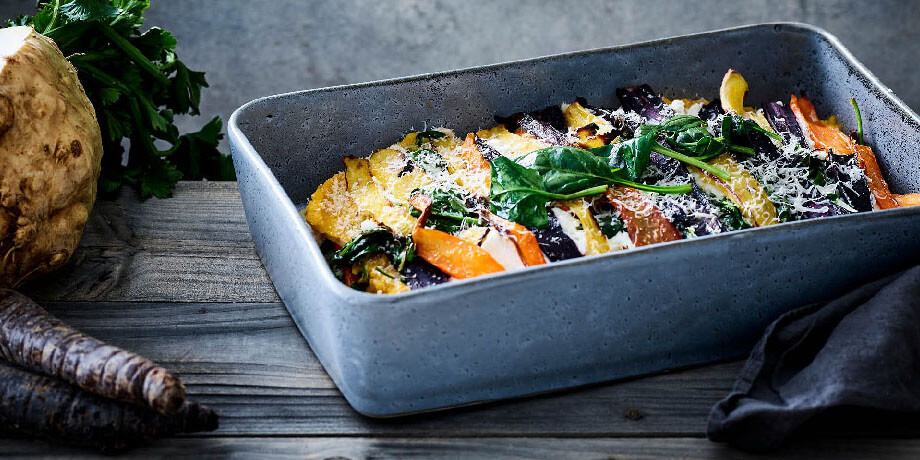 lasagne d 39 pinards c leri rave carottes et ricotta carrefour. Black Bedroom Furniture Sets. Home Design Ideas